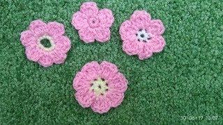 Простой цветок крючком/ Как связать простые цветы/ Crochet flowers