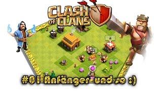 Let's play Clash Of Clans #001 - Anfänger und so :) [Deutsch / German][LP iOS IPhone] [Gameplay]