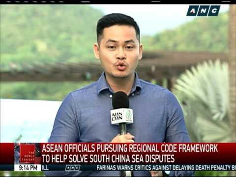 ASEAN officials pursuing regional code framework vs sea disputes