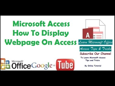 Microsoft Access How To Display Webpage On Access