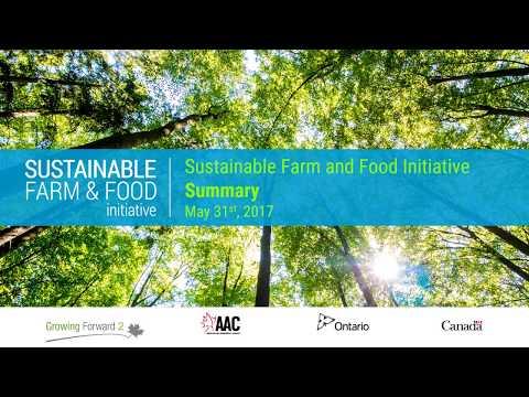 Sustainable Farm and Food Initiatives Summary