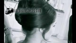 Classic Bridal updo, wedding hairstyle