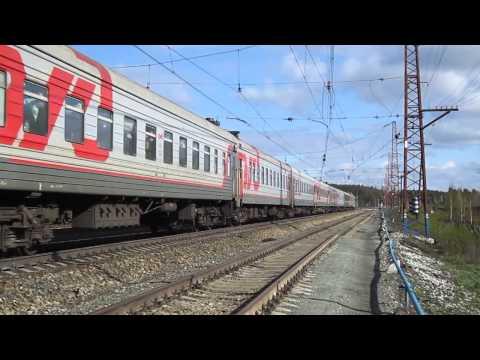 Cмотреть ЧС2-828 с поездом №109 Новый-Уренгой - Москва