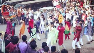Pohela Baishakh Flash Mob By BUFT 152 Batch!!! #Ektu_beshi_joss