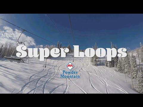 Super Loops at Powder Mountain - 1-5-2017