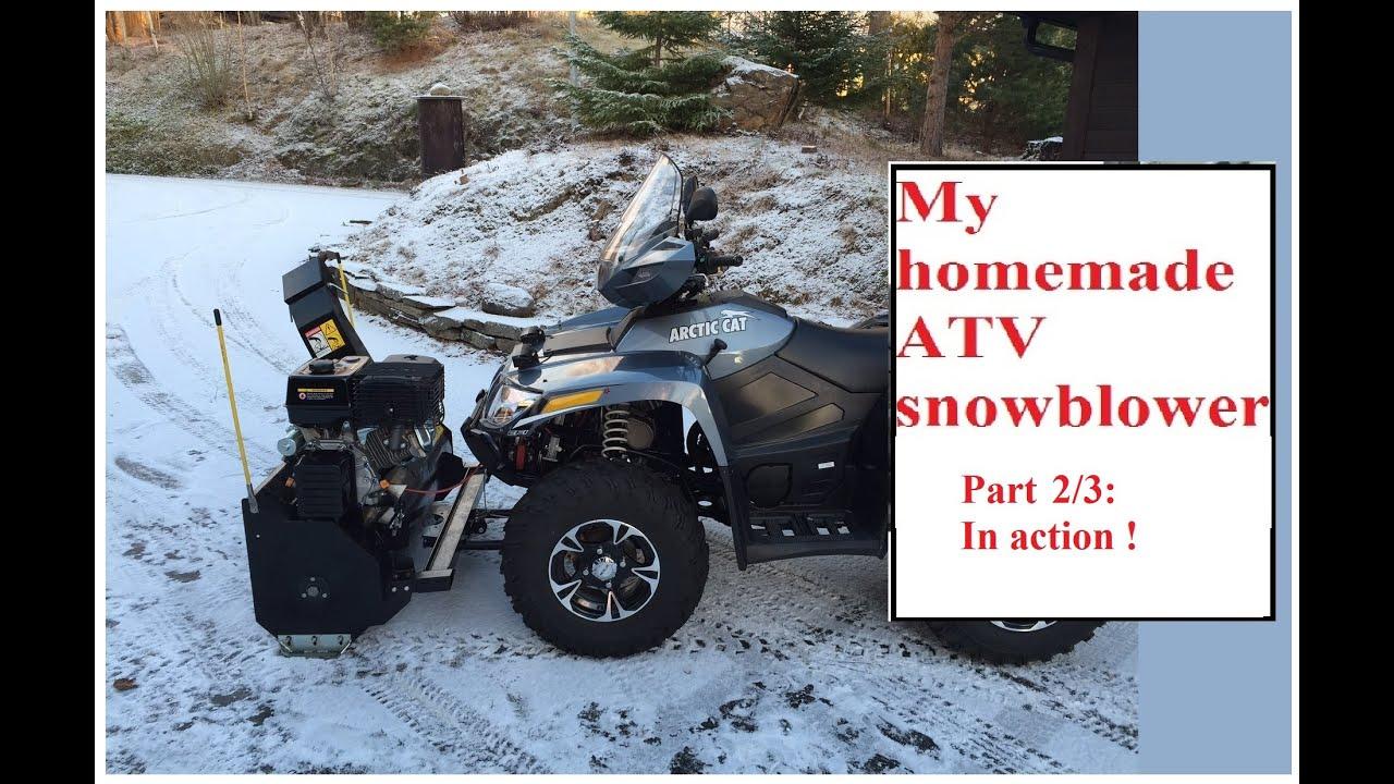 DIY / homemade ATV snowblower, part 2: action | Doovi