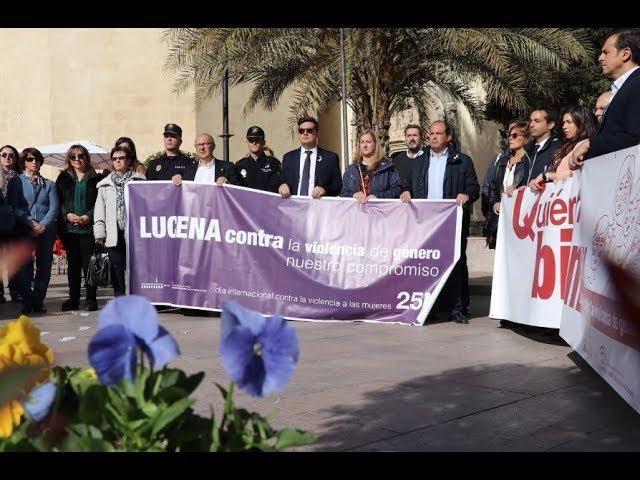VÍDEO: Paro institucional de carácter simbólico contra la Violencia de Género en Lucena
