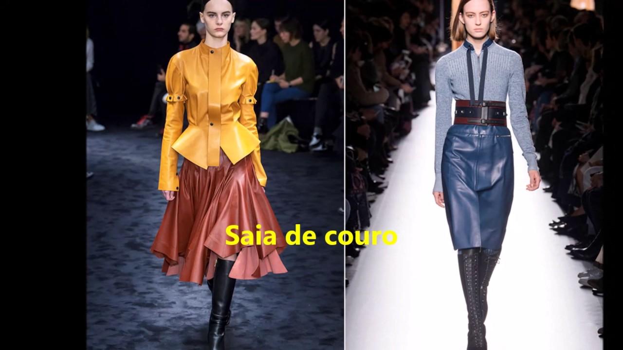 c612db160d Saias da moda Outono-Inverno 2017-2018.Fall Winter Fashion Skirts 2017-2018