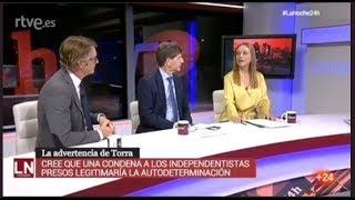 Yolanda Vaccaro en Televisión Española  sobre Cataluña,  Brexit y déficit en Italia