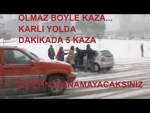 İSTANBUL KAR YAĞIŞI TRAFİK KAZALARI -How To Not Drive Your Car on Road