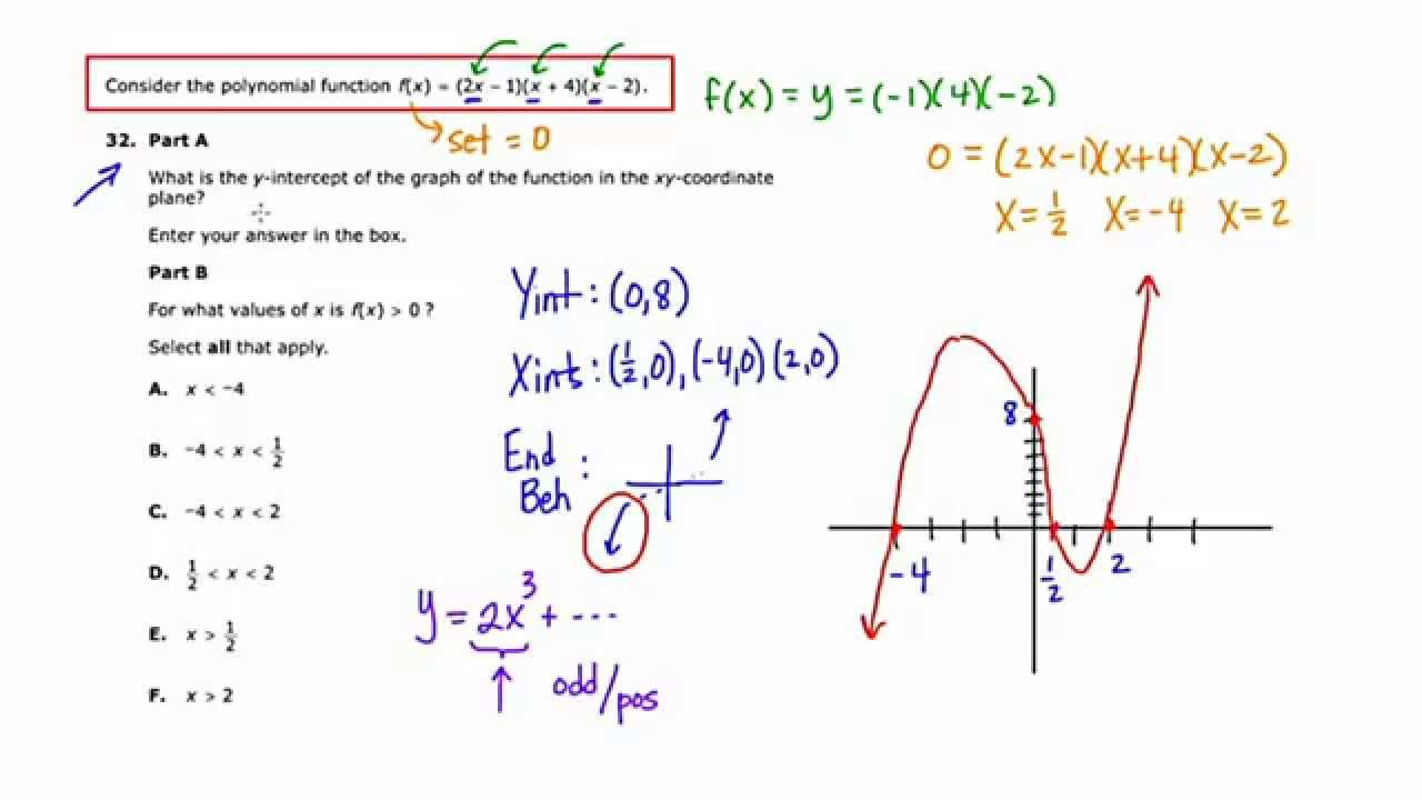 Tnready algebra 2 practice test answers