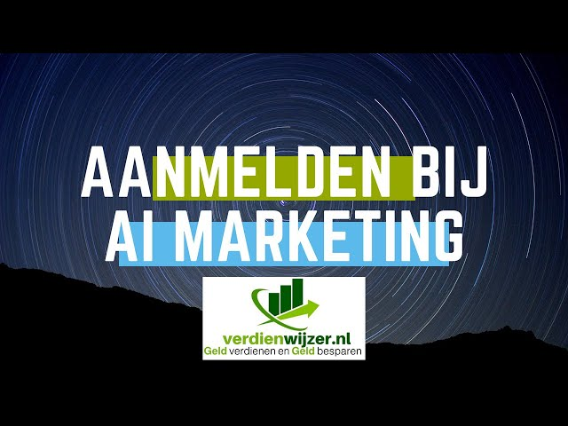 Inschrijven bij AI marketing