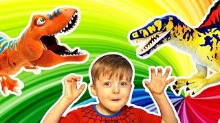 Загадки для Детей про Динозавров Сборник 1-3 серия Челлендж Угадай Динозавра Детям про Динозавров