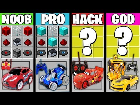 Minecraft Battle : REMOTE CONTROL CAR CRAFTING ! NOOB vs PRO vs HACKER vs GOD in Minecraft Animation thumbnail