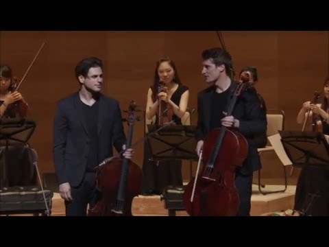 2CELLOS  Bach Air on a G string   at Suntory Hall, Tokyo