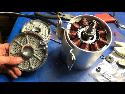 What's Inside a 5hp 3500w 72v Electric Motor ? 3 phase induction
