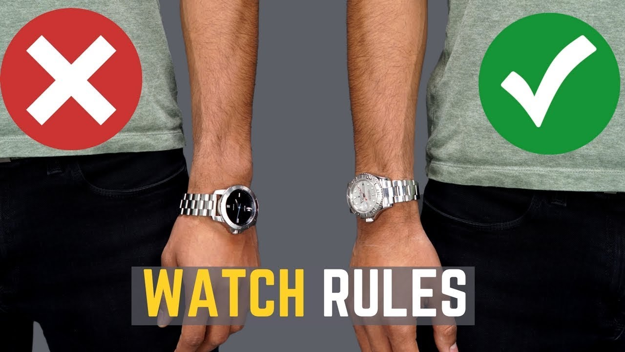 Download 5 Watch Rules ALL MEN Should Follow   STOP Wearing Your Watches WRONG!