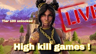 Fortnite battle royale | Luxe skin gameplay | tier 100 unlocked !