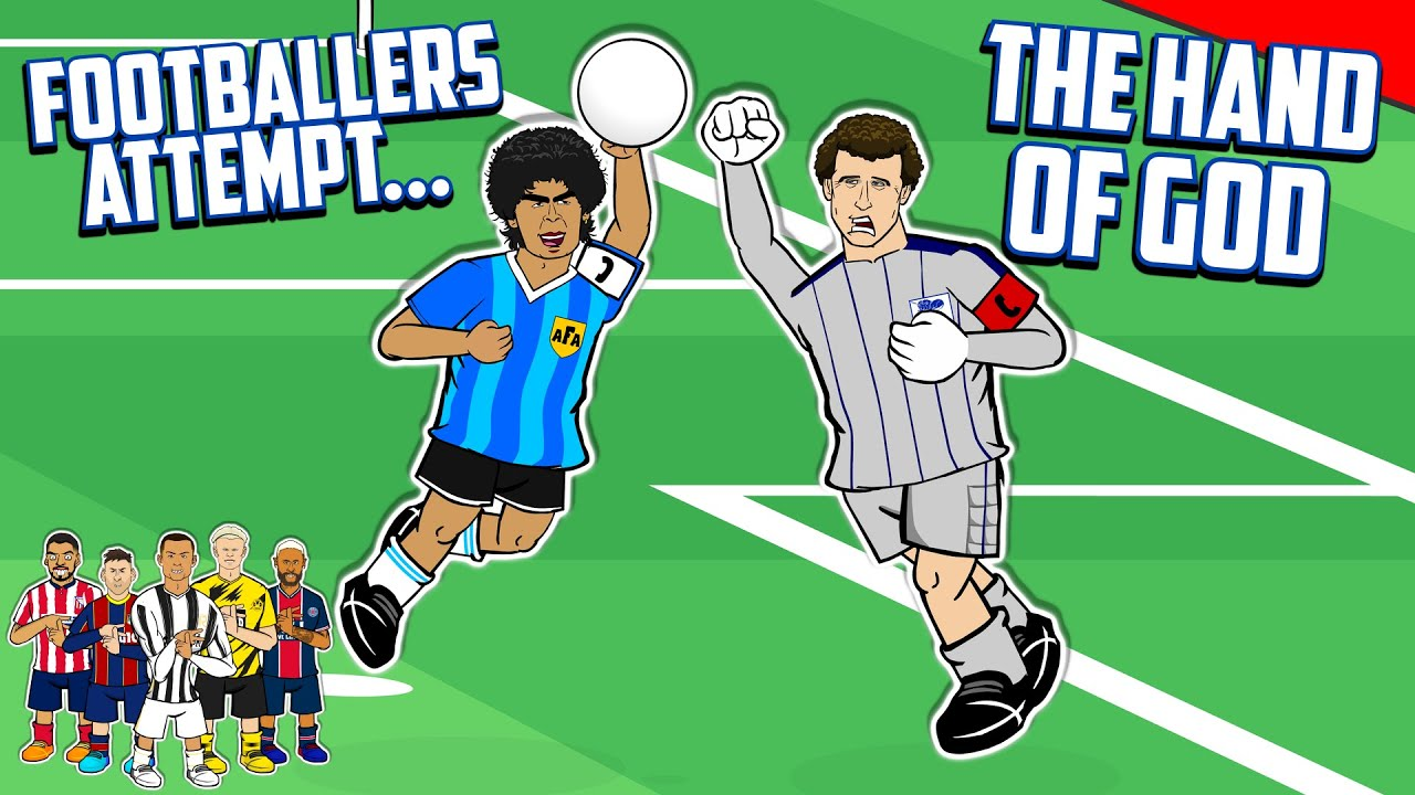 Download ✊Footballers Attempt The Hand of God✊ Ronaldo Messi Neymar +more! (Maradona vs England Frontmen 2.8)