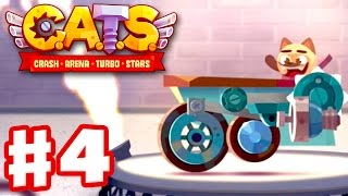 CATS: Crash Arena Turbo Stars - Gameplay Walkthrough Part 4 - Surfer with Blade and Laser! (iOS)