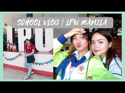 SCHOOL VLOG! LPU MANILA! | Angela Denise (Philippines)