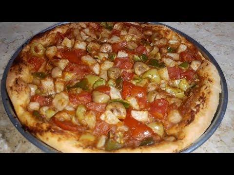 صورة  طريقة عمل البيتزا طريقه عمل البيتزا بالخضار صيامى طريقة عمل البيتزا من يوتيوب
