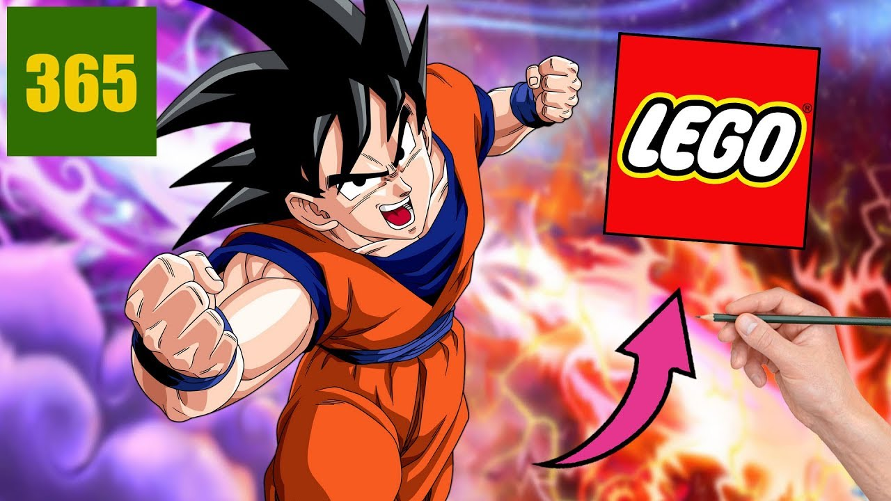 Comment Dessiner Goku Lego Dragon Ball Super Style Lego