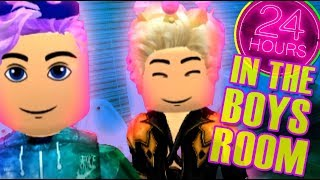 24 HOURS IN THE BOYS BATHROOM!! Roblox Royale High w/ BloxyBritt