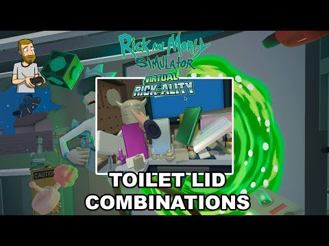 TOILET LID COMBINATIONS (EVERYTHING PORCELAIN) | Rick and Morty Simulator: Virtual Rick-Ality