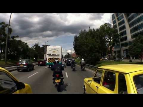 Yamaha R15 V2.0 with Optrix Sport Case - Commuting home. Bogota, Colombia