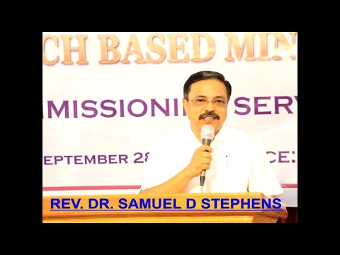 REV  DR  SAMUEL D STEPHEN MESSAGE IN COMMISSIONING SERVICE AT COIMBATORE
