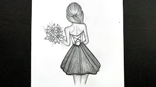 easy pencil drawing shading drawings flowers
