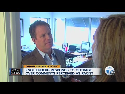 State Sen. Knollenberg responds to outrage over comments perceived as racist
