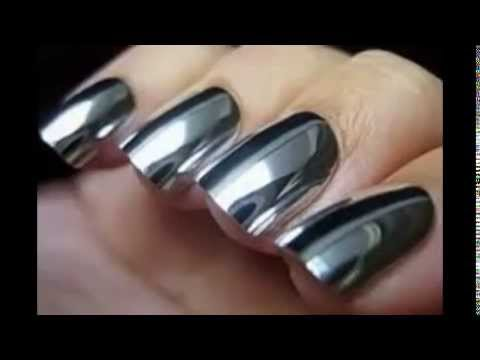Mirror Nails Effect Nail Polish Silver Gold Ideas