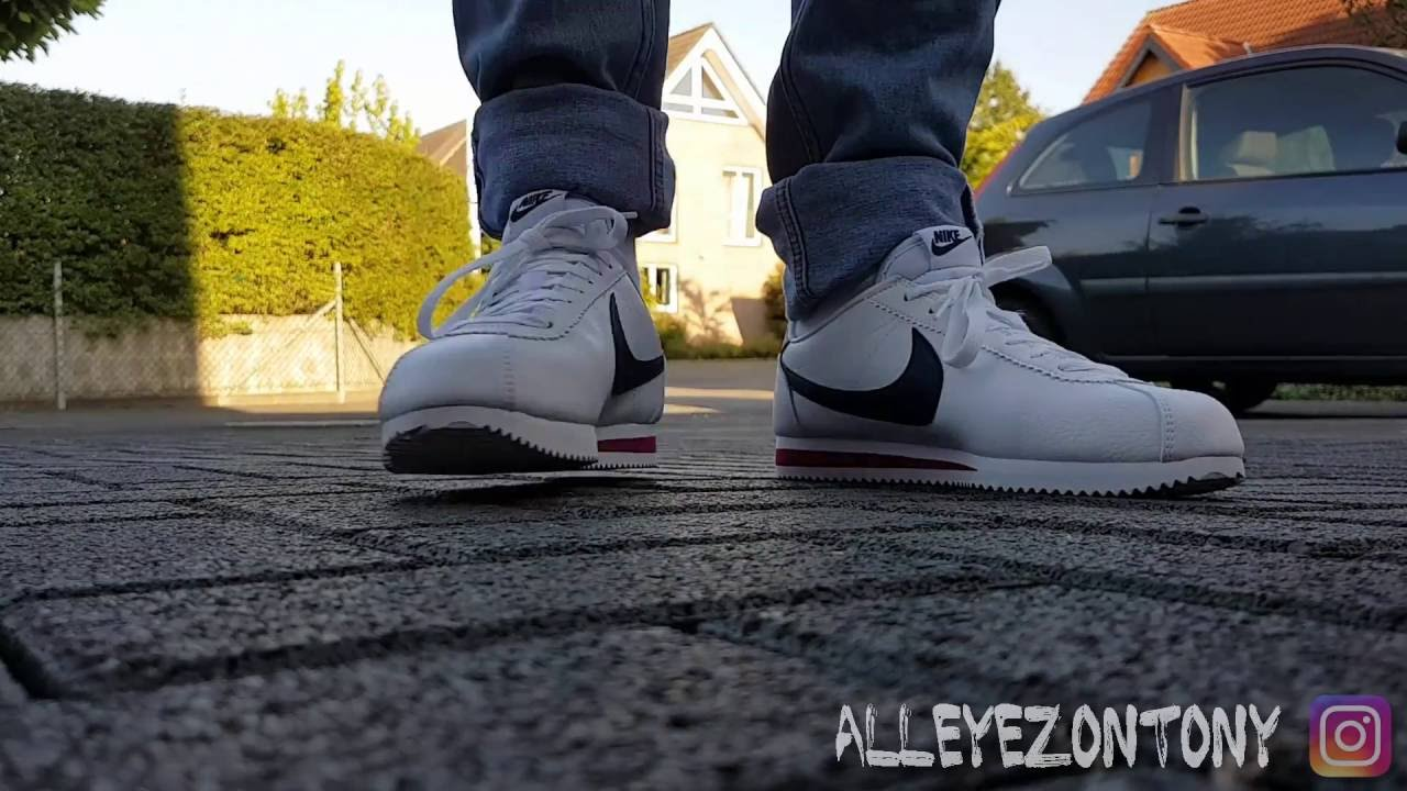 new products eb976 7c871 NIKE CLASSIC CORTEZ LEATHER - On Feet - YouTube