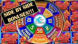 Super Wheel Blast Slot Machine by Aristocrat - Side by Side Bonuses, Wins & Fun!