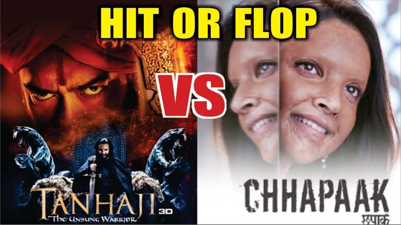 Chhapaak Vs Tanhaji | HIt Or Flop | Movie Review | Deepika ...