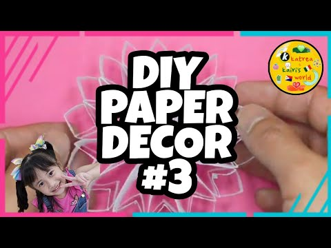 Paper Craft Ideas | Easy Steps | DIY Room Decor | Paper Decor| #03