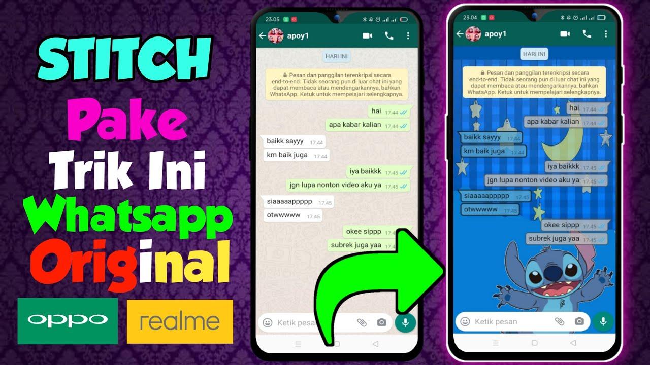 Cara Merubah Gelembung Chat Whatsapp Original | Terbaru