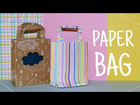 HOW TO MAKE A PAPER BAG ❤ 5-Minute Crafts  ❤  EASY PAPER CRAFTS