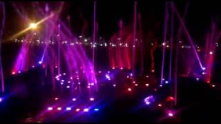 beautiful musical fountain in lucknow, uttar pradesh, India, at ambedkar park.mp4