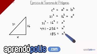 Ejercicio 2 de Teorema de Pitágoras