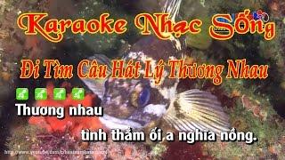 Karaoke Nhạc Sống Đi Tìm Câu Hát Lý Thương Nhau
