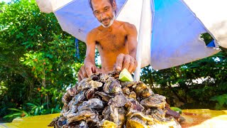 Download Rio's OYSTER MAN + Brazilian Seafood Claypot Fish in Rio de Janeiro, Brazil! Mp3 and Videos