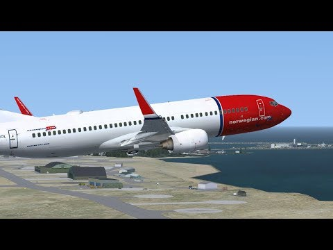 *Virtual Norwegian* PMDG 737NG LN-NOL Oslo ENGM- Svalbard ENSB- Oslo   (Late night flying)