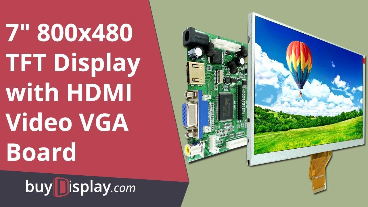 7 Inch 1024*600 LCD TFT Display HDMI+VGA+Video AV Driver Board for Raspberry PI