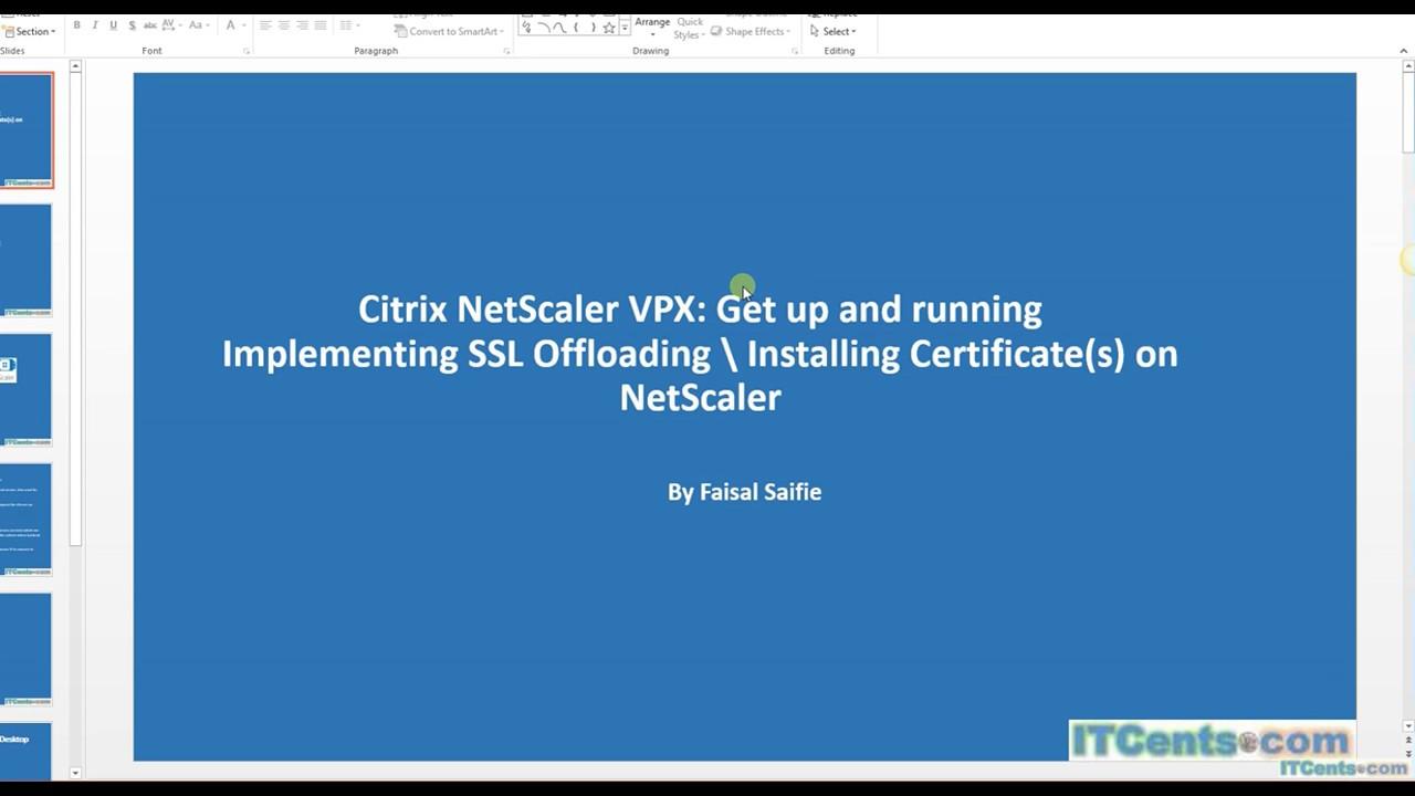 13 Citrix Netscaler Vpx Series Configuring Ssl Offloading Youtube