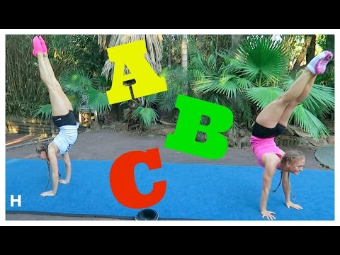 ABC Acro & Gymnastics Challenge! | The Rybka Twins