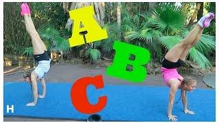 ABC Acro & Gymnastics Challenge! | The Rybka Twins Video