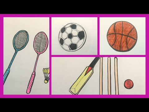 How To Draw And Color Outdoor Games For Kids. ( Drawing And Coloring Pages For Kids ) #06.
